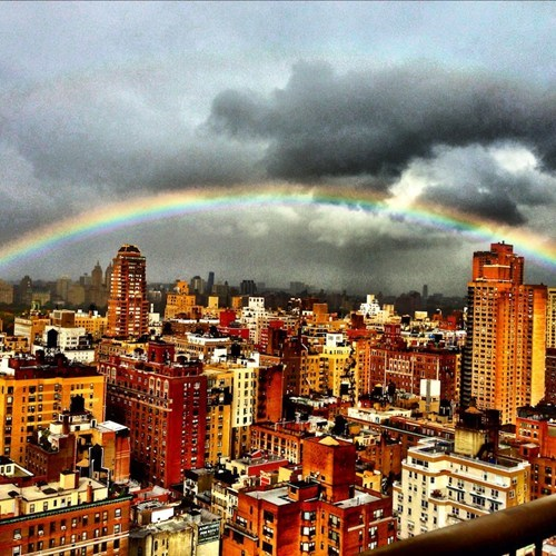 rainbow,hurricane sandy,new york city