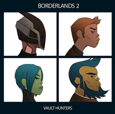 the gorillaz,borderlands 2,demon days