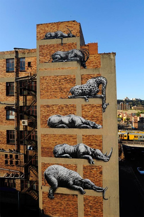 Street Art art stacking graffiti animals - 6720499456