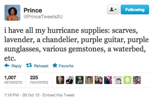 twitter prince hurricane sandy - 6720530176
