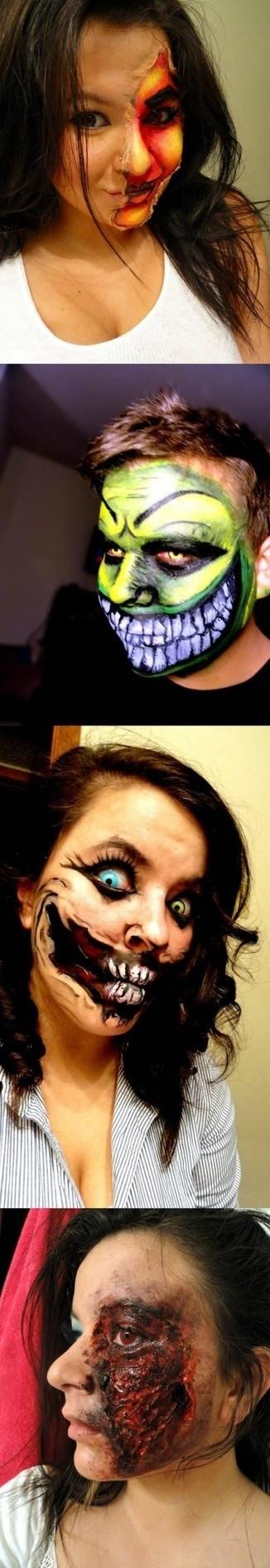 halloween costume face paint - 6720650752
