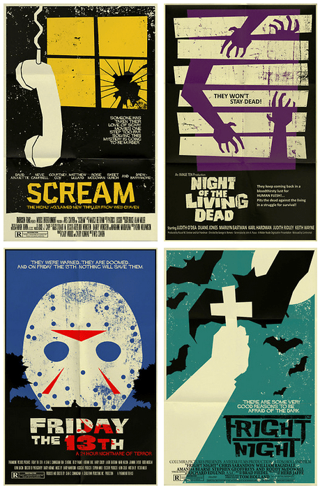 horror scary minimalist art poster halloween Movie film funny Fan Art famously freaky g rated - 6720743168