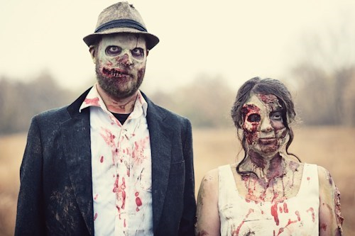 zombie halloween awesome photoshoot engagement