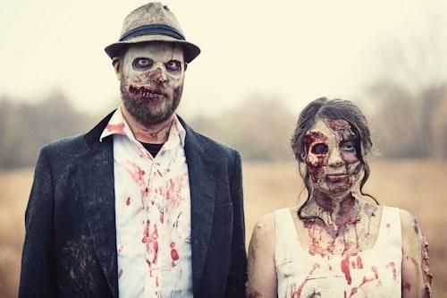 zombie halloween awesome photoshoot engagement - 6720760832
