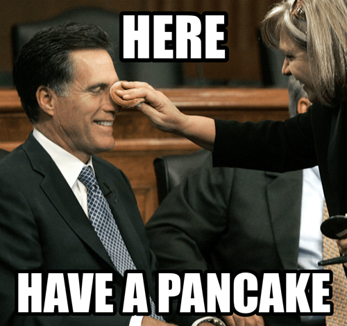 makeup here Mitt Romney pancake comforting nose powder
