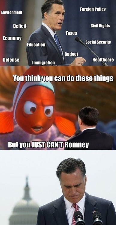 Sad,you think,Mitt Romney,taxes,president,finding nemo,education,election,quote