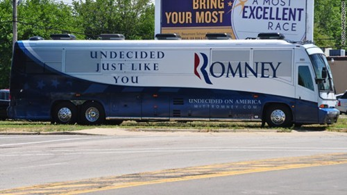 campaign Mitt Romney relatable undecided just like you bus - 6720876288