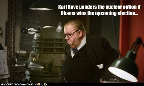 Karl Rove ponders the nuclear option if Obama wins the upcoming election...
