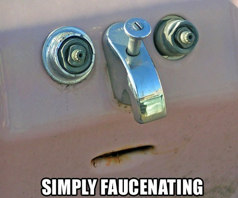 simply,puns,faucet,faces