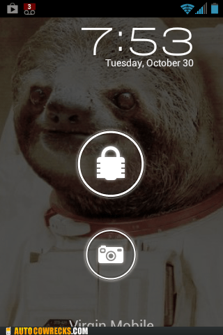 android background astronaut sloth - 6721076992