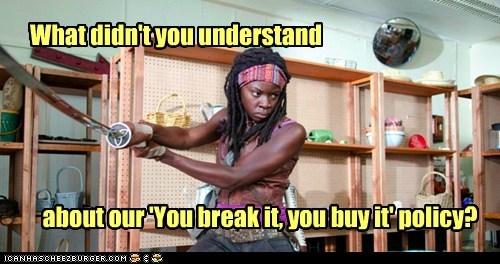 clerk michonne Danai Gurira sword understand break store The Walking Dead - 6721114112
