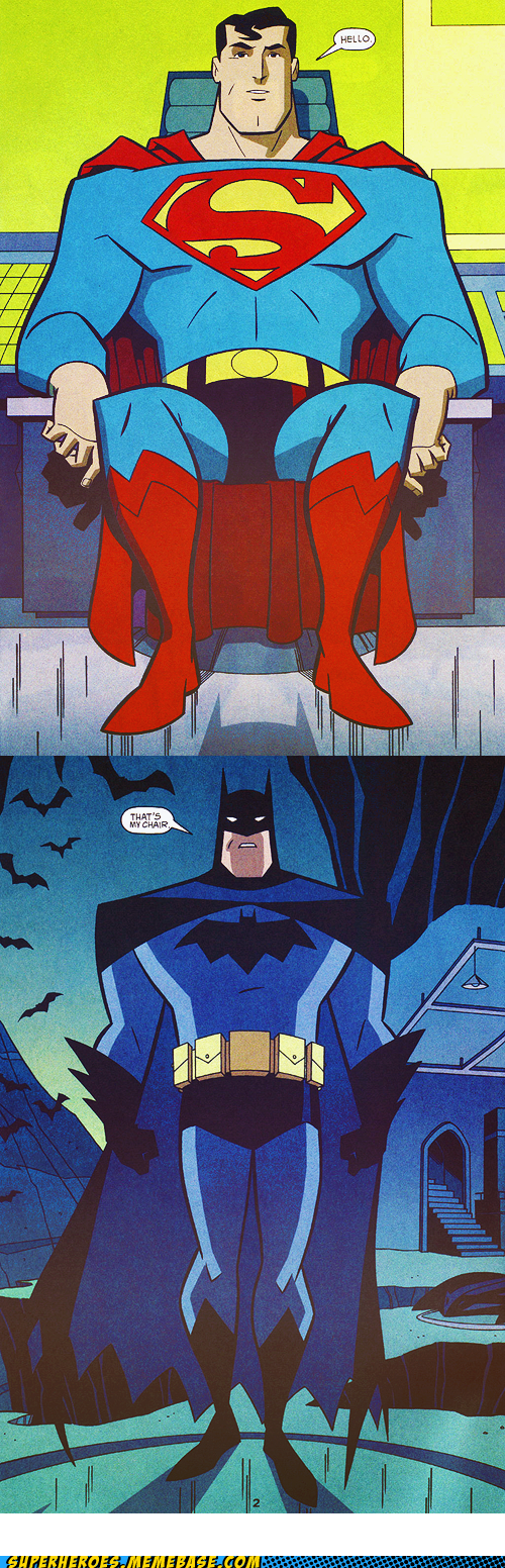 chair fight batman superman - 6721144064