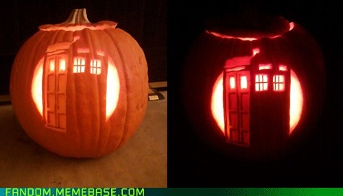 jack o lanterns tardis doctor who pumpkins - 6721246208