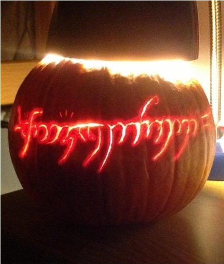 pumpkins,Lord of the Rings,one ring,nerdgasm,carving