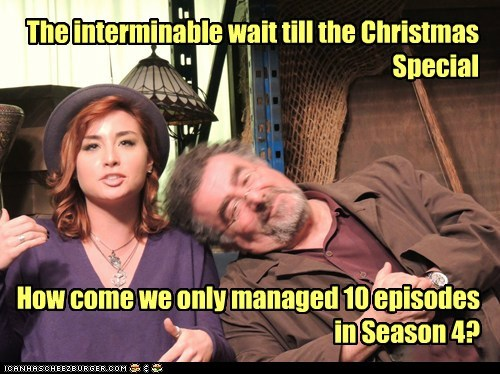 The interminable wait till the Christmas Special How come we only managed 10 episodes in Season 4?
