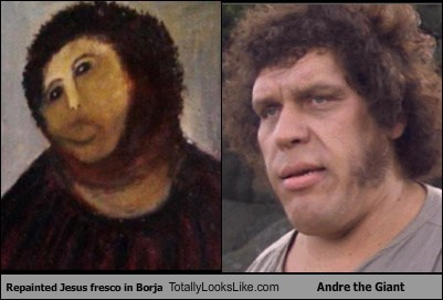 ecco homo TLL andre the giant funny fresco jesus - 6721495040