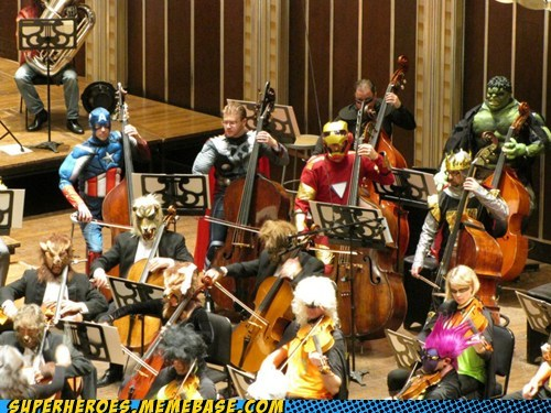 assemble,costume,ensemble,orchestra,avengers