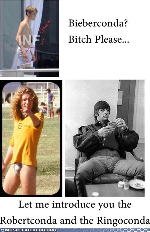 Justine Bieber,robert plant,wangsize,ringo starr