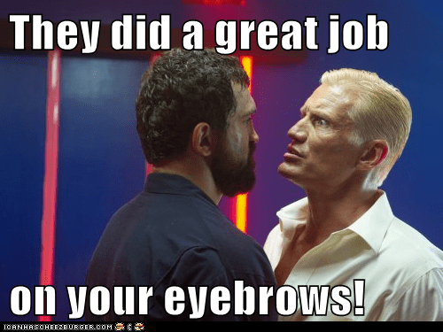 They did a great job on your eyebrows!