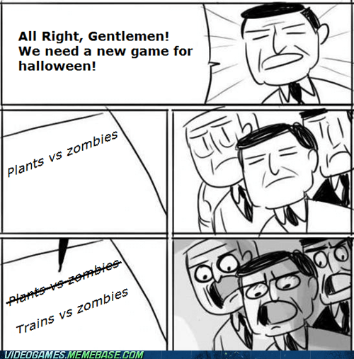 trains vs zombies halloween meme - 6722465280