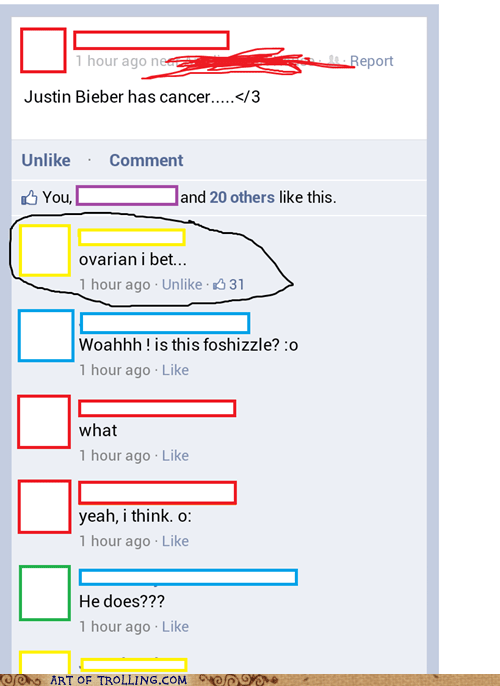 Bieber facebook cancer - 6722780160