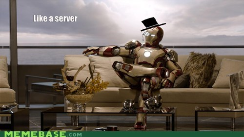 server,iron man,sir