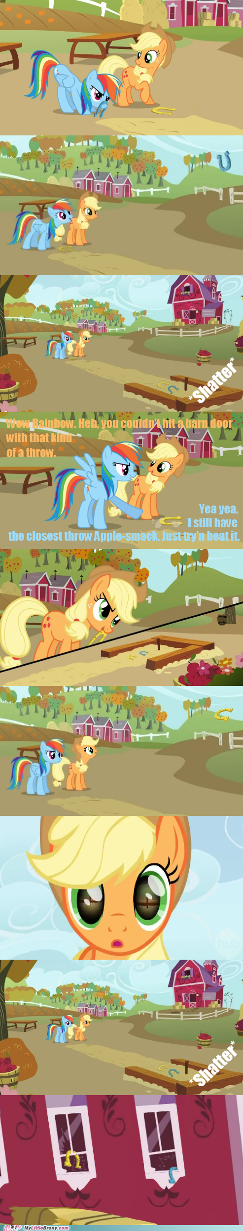 applejack,Close Enough,comic,rainbow dash