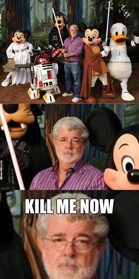 george lucas disney director star wars celeb funny - 6723048192