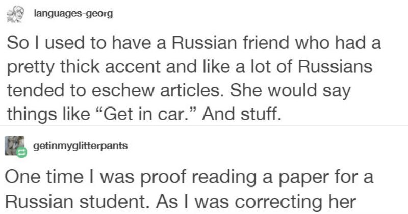 russian shuts down person who makes fun of her accents