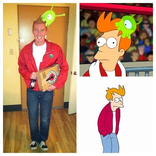 halloween costumes brain slug futurama fry - 6723200512