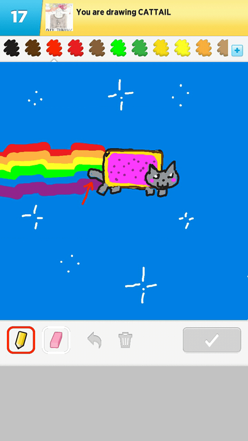 Nyan Cat draw something tail - 6723251456