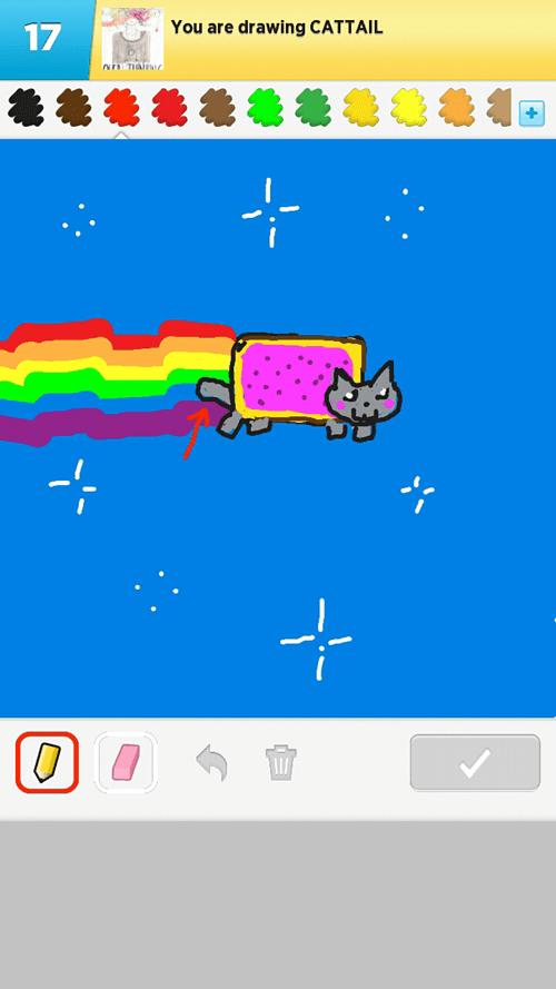 Nyan Cat draw something tail - 6723251456
