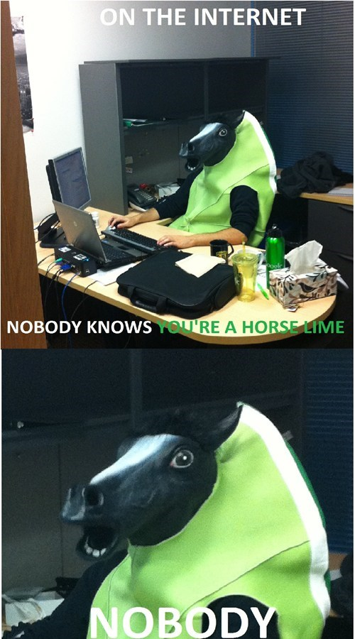 halloween lime suit on the internet horse mask halloween costume monday thru friday Spooky FAILs hallowmeme