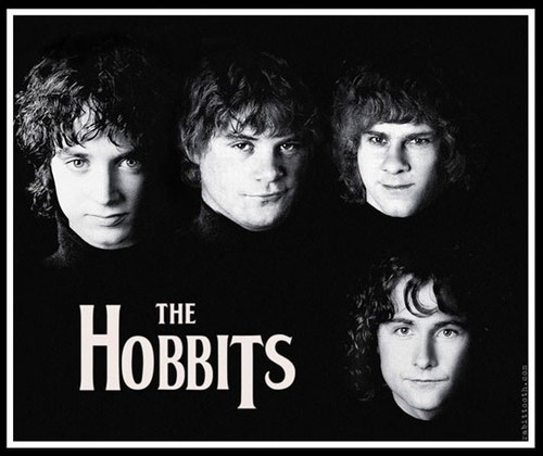 hobbits the Beatles Lord of the Rings - 6723285504