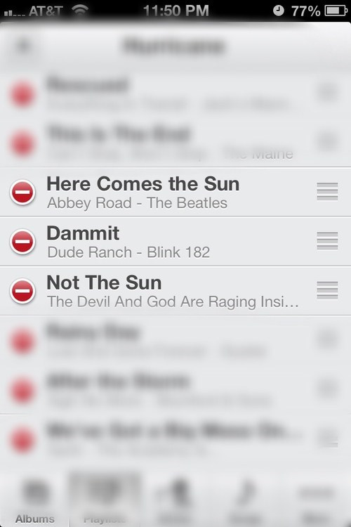the Beatles playlist sun blink 182