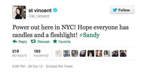 entertained fleshlights st-vincent power outage - 6723335680