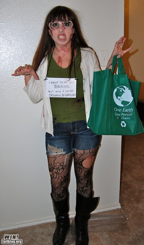 halloween costumes,zombie,environmentalist