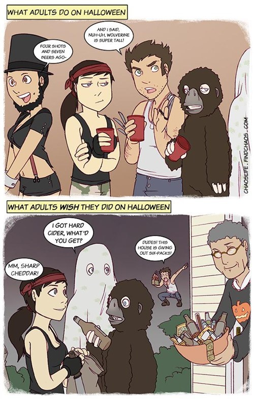 halloween trick or treat comic adults g rated Parenting FAILS Spooky FAILs - 6723344896