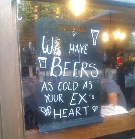 beers,cold,hearts,exes