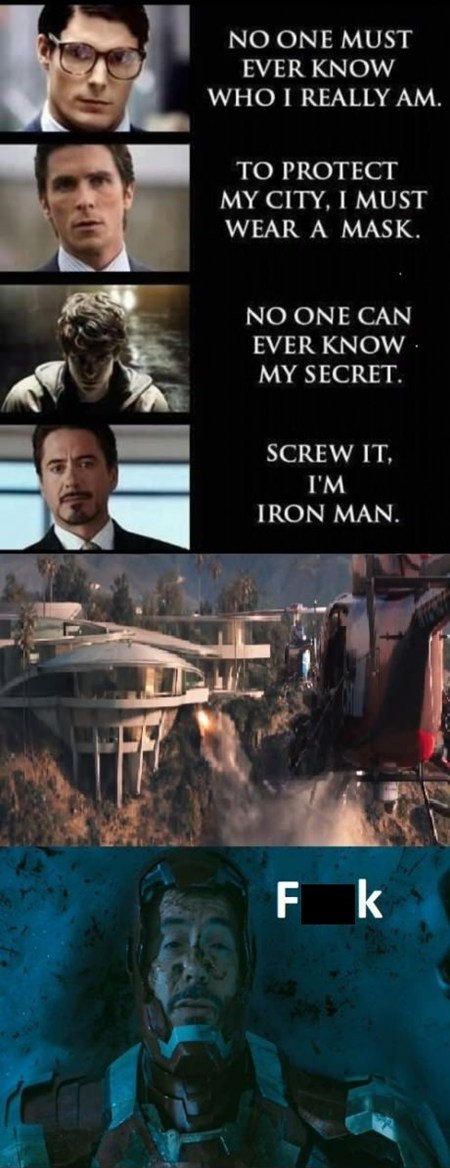 ironman 3 super heroes secret identity movies - 6723512832