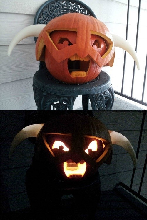 halloween,IRL,amazing,pumpkin carving,Skyrim