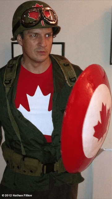 costume,nathan fillion,captain canada