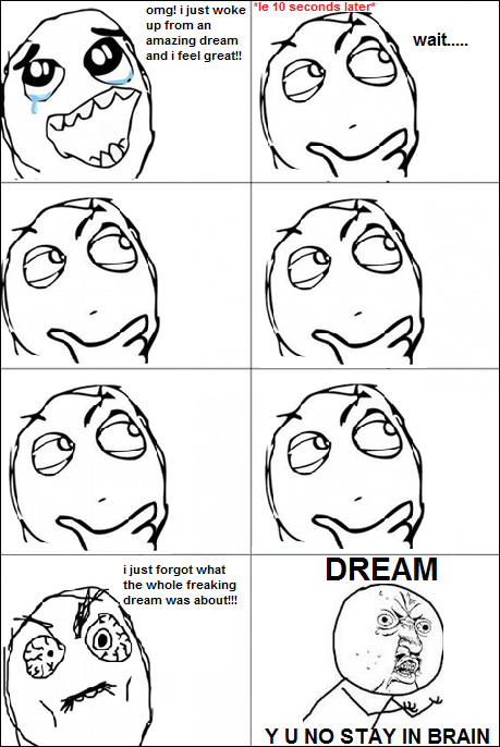dream,brain,Rage Comics