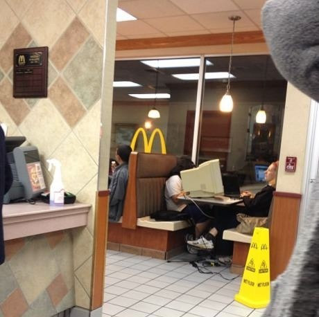 McDonald's,Meanwhile,monitor,computer