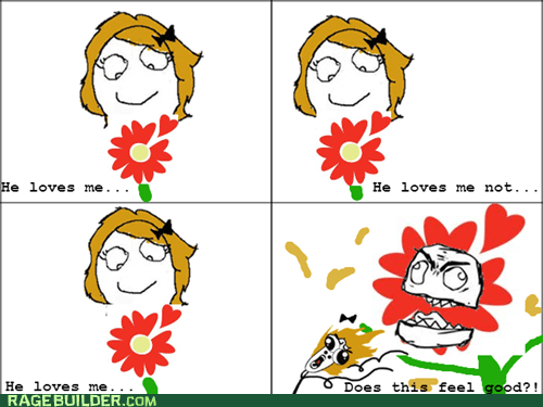 he loves me not,flowers,omg run