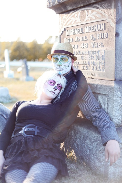 makeup,dia de los muertos,graveyard,sugar skulls