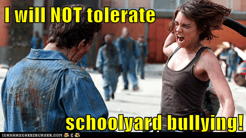 zombie,Lauren Cohan,Maggie Greene,machete,bullying,The Walking Dead