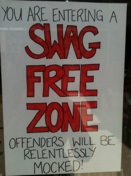 mocked swag drug free zone - 6723932928
