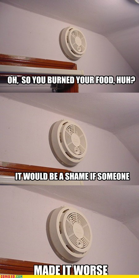 beep,burning,fire alarm,food