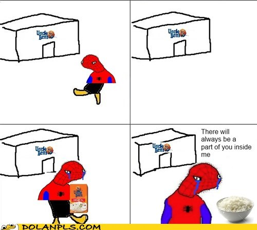 spoderman orphan Uncle Ben rice Spider-Man